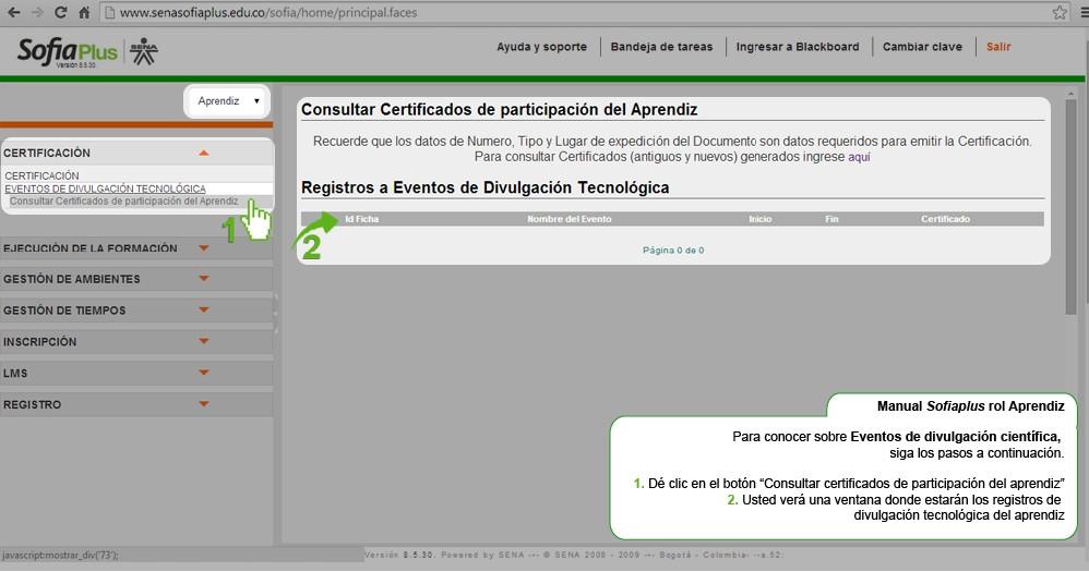 Certificados en Sofia Plus SENA